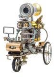 在车的Steampunk机器人 免版税库存图片