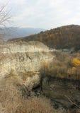 在车臣山的峡谷 图库摄影