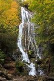在车落基印第安人, NC附近的瀑布 免版税库存图片