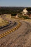在车行道的S形曲线 免版税库存图片