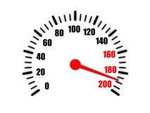 在车速表的高速 免版税库存图片