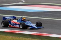 1980年在轨道的Tyrrell F1 免版税库存图片