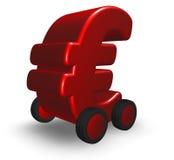 在轮子的欧元 免版税库存图片