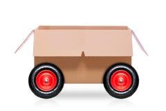 在轮子的移动的箱子 库存图片