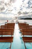 在轮渡的甲板的自由位子在挪威 库存照片