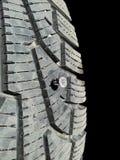 在轮胎的螺丝 免版税图库摄影