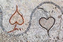 在轮胎,黎巴嫩的罗马马赛克 库存图片