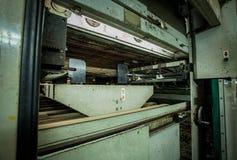在轮转印刷机的逆单位 库存照片