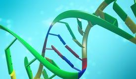 在软的蓝色背景的脱氧核糖核酸双重螺旋 医疗Sciense,基因 向量例证