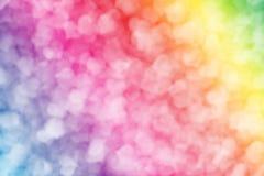 在软的颜色样式的生动的bokeh光背景的  免版税库存图片
