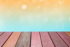 在软的颜色样式的Bokeh背景的 免版税库存照片