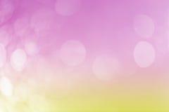 在软的颜色样式的Bokeh背景的 免版税库存图片