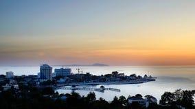 在轰隆夏恩,泰国的日落 库存图片