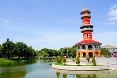 在轰隆痛苦王宫的泰国皇家住所 免版税图库摄影