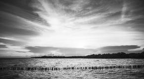 在轰隆Khun Thian海的日落 库存图片