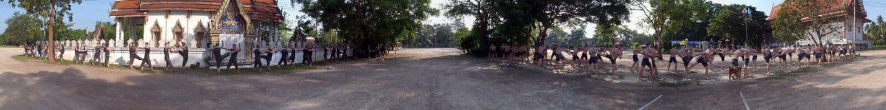 在轰隆Kung寺庙的战斗的worriors在泰国 免版税图库摄影