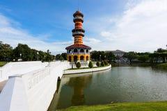 在轰隆Pa的观测所塔在宫殿 图库摄影
