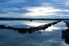 在轰隆Taboon的盐平底锅在泰国 免版税库存照片