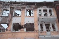 在轰击以后的大厦 免版税库存照片