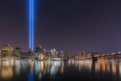 在轻的纪念品的进贡从布鲁克林大桥公园 免版税图库摄影