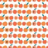 在轻的背景的传染媒介五颜六色的鲜美时髦桃子无缝的样式 向量例证