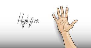 ?? 在轻的背景的手势 向量例证