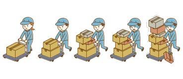 在载体的人运载的行李 向量例证