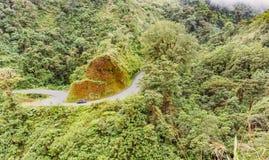 在辛可宁附近的哥斯达黎加路126在阿拉胡埃拉省 库存图片