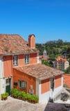 在辛特拉看见的传统葡萄牙房子,葡萄牙 免版税库存图片