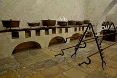 在辛特拉里面全国宫殿  免版税库存图片