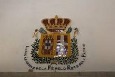 在辛特拉里面全国宫殿  免版税库存照片