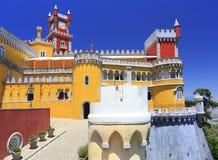 在辛特拉镇上的贝纳全国宫殿 库存图片