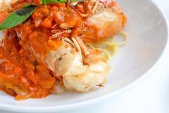 在辣味番茄酱,泰国的虾 免版税图库摄影