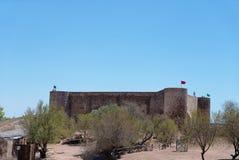 在边境城市卡斯特罗marim的城堡里面 免版税库存图片