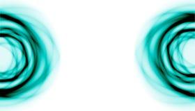 在边的两个蓝色血浆的半圆 免版税库存图片