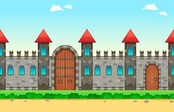 在边的反复性的城堡 免版税库存照片