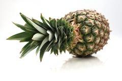 在边的菠萝 免版税库存照片