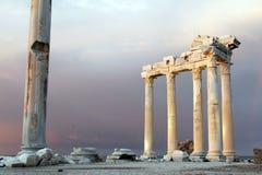 在边的阿波罗寺庙 免版税库存照片