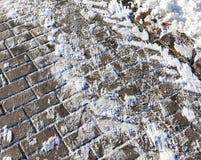 在边路的雪 免版税库存图片