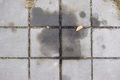 在边路石头的油性着色剂 免版税库存照片