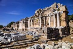 在边,土耳其的古老纪念碑 库存照片