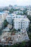 在达卡的看法-从Westin旅馆的Gulshan圈子2 免版税库存图片