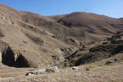 在达吉斯坦山的峡谷 图库摄影