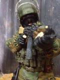 在达吉斯坦戏弄Spetsnaz一六个战士使命 库存图片