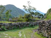 在达娜,尼泊尔附近的一点解决 免版税库存照片