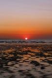 在达尔文港口的日落 库存图片