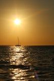 在达尔文港口的日落 库存照片