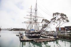 在达讷论点港口靠码头的香客风船 免版税图库摄影
