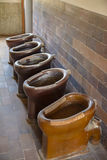 在达豪集中营的老洗手间 库存照片
