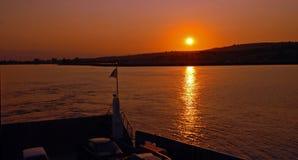 在达达尼尔海峡,土耳其的日出 免版税库存图片